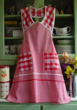 1940 Red Gingham Apron