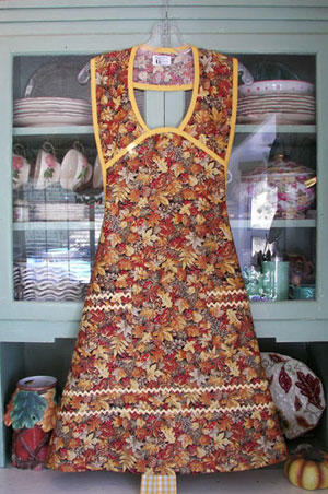 1940 Autumn Leaf All Over Apron