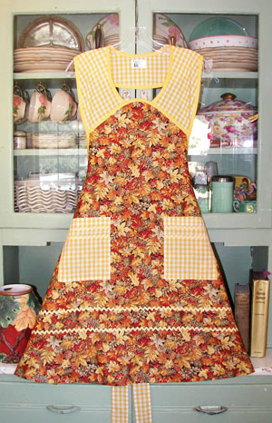 1940 Autumn Leaf apron.