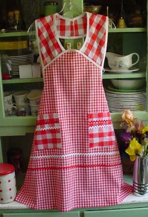 Retro red gingham aprons