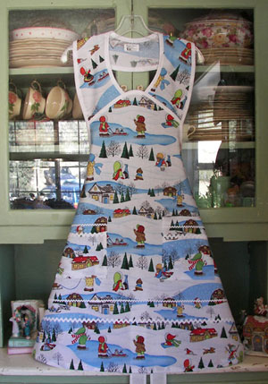 1940 Holiday Time Apron