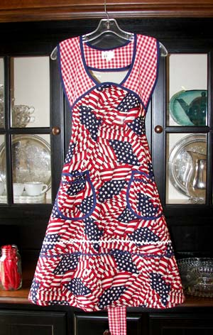 1940 4th of July USA apron
