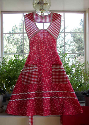 1940 in Red Polka Dot Aprons