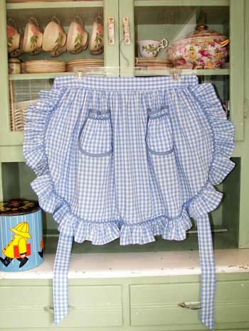 1948 Ruffle Blue Gingham