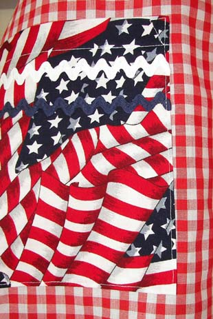 Close up of 4th of july patriotic material