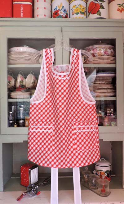 Grandma Red and White Kitchen Apron