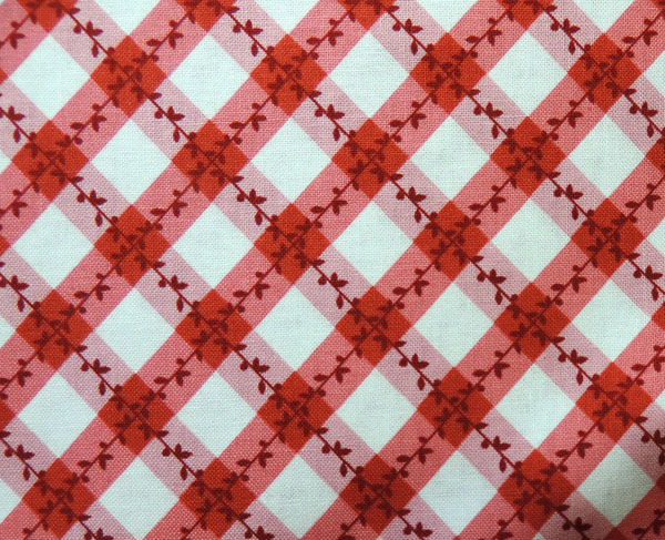 Old Fashioned Red and White Kitchen Apron Close up