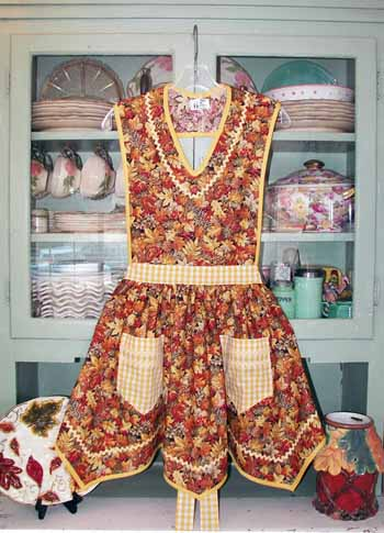 Victory Full Autumn Leaf Apron