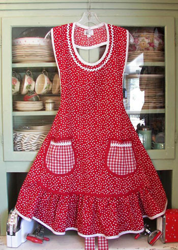 Aunt Rosie Red Polka Dot
