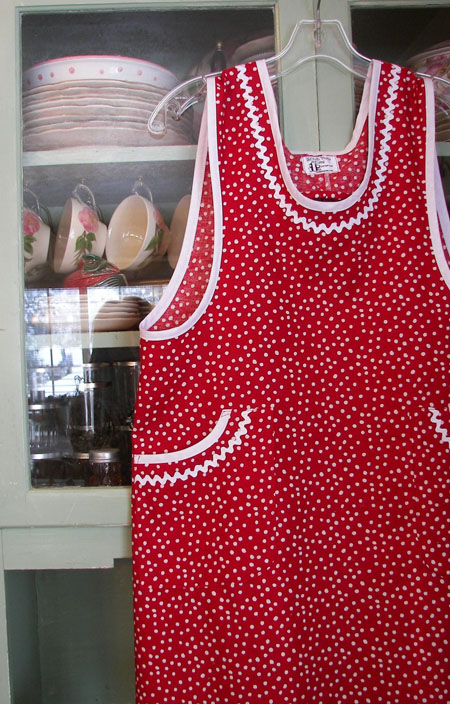 Aunt Violet Red Polka Dot