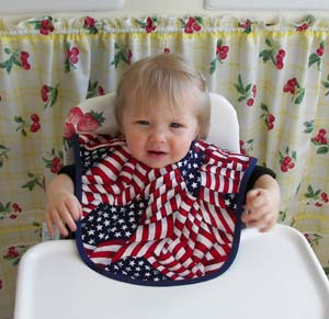 4th of July baby bib, click for more bibs