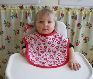 Lip baby bib, click for more views