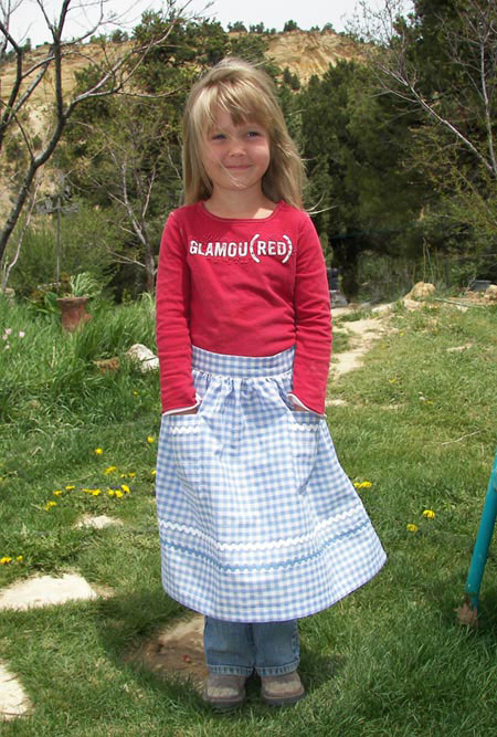 Retro Blue Gingham Half Apron, click for more half aprons