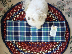 Large Heating pad with plaid pillowcase