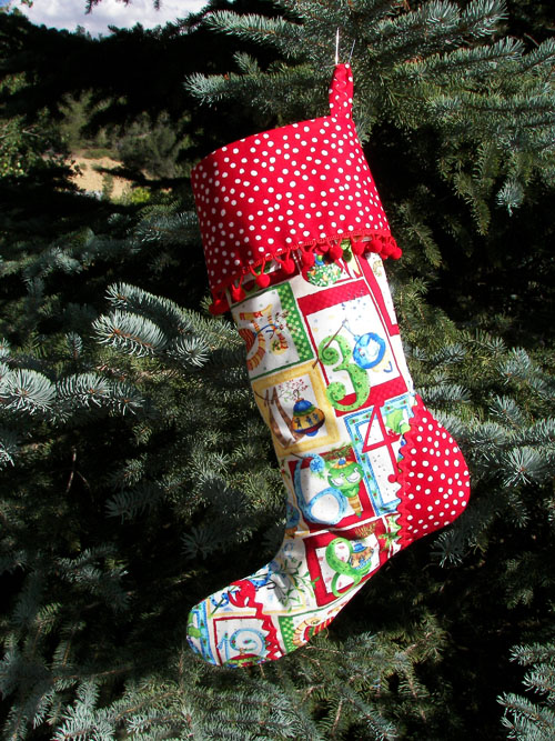 Countdown Calandar Christmas Stocking