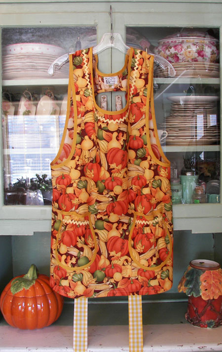 Grandma Apron in Pumpkin Harvest