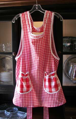 Grandma Red Gingham Apron
