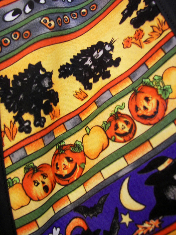 Close Up Halloween top of 1940 apron