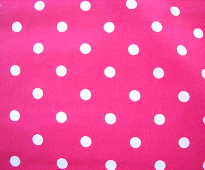 Pink White Polka Dot Close Up