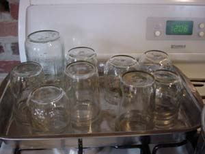 jars ready to put jam in