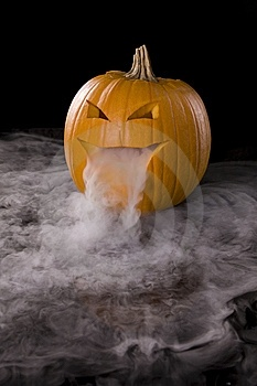 Pumpkin with Dry Ice