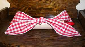Red Gingham Lucy Hair Wrap