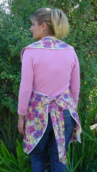 Rose apron back