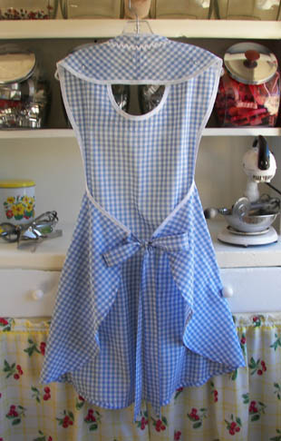 Rose Blue gingham back