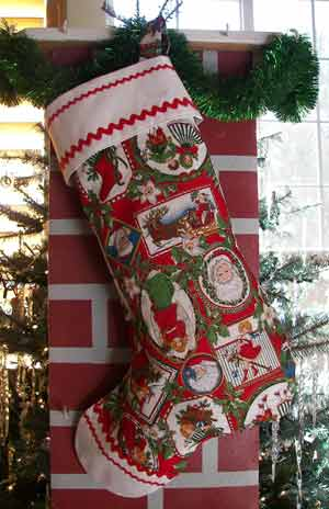 Santa Victorian Christmas Stocking, click for larger view