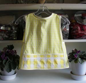 Yellow Gingham Small Child Apron