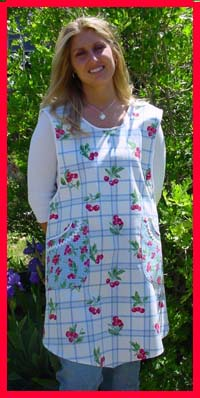 Violet apron, click for larger view