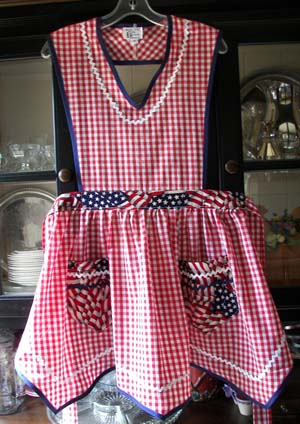 Victory 4th of July full apron