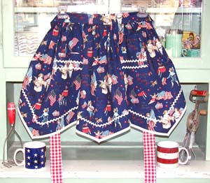Victory Half Apron Old Fashion USA