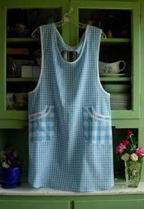 Violet Blue Gingham apron