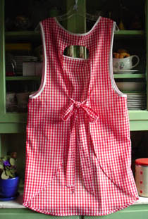 Violet Red gingham back