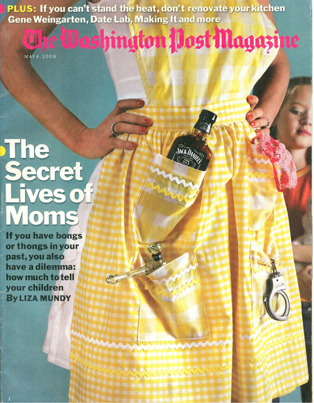 Heart apron on the Washington Post magazine