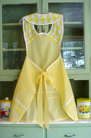 1940 Yellow gingham back