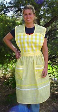 Yellow Heart Apron Click for more views